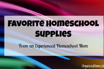 My favorite homeschool supplies are the things I use every day in my homeschool. They are the quiet workhorses - keeping my homeschool running smoothly.