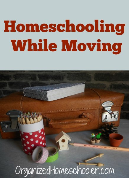 Homeschooling while moving can be a challenge! See these tips on how to homeschool while moving.