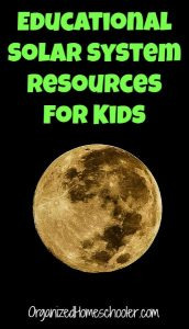 These educational solar system resources for kids are perfect for adding to a solar system unit study.