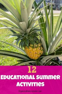 These 12 educational summer activities are a great way to plan a low-key simple homeschool summer school. This is my unschool approach to summer school for my kids. They enjoy these summer activities while still learning. Prevent summer slide! #homeschool #summer