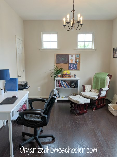 This homeschool office is where I organize all of my homeschool material and blog.