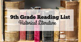 9th Grade Reading List: Historical Literature
