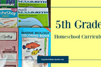 5th grade homeschool curriculum choices for math, language arts, science, social studies, and geography.