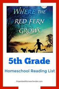 This 5th grade reading list is an eclectic mix of classic and modern tales. This reading list is a great addition to a homeschool language arts curriculum. It includes historical fiction, realistic fiction, fantasy, and nonfiction.