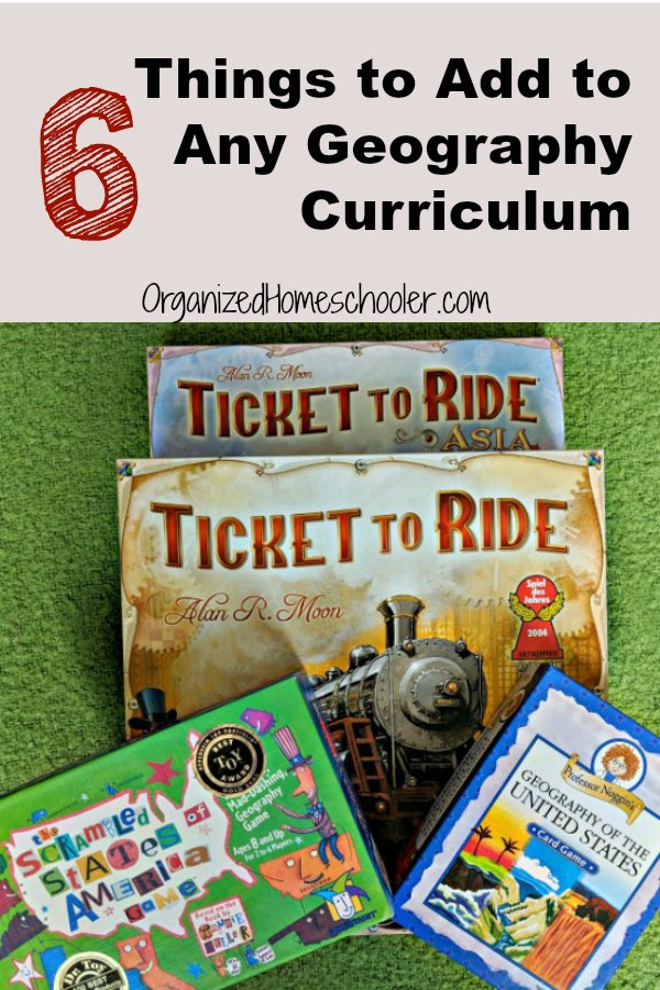 Check out these 6 fun games and activities that can be used to create an inexpensive homeschool geography curriculum that can be used for multiple grade levels.