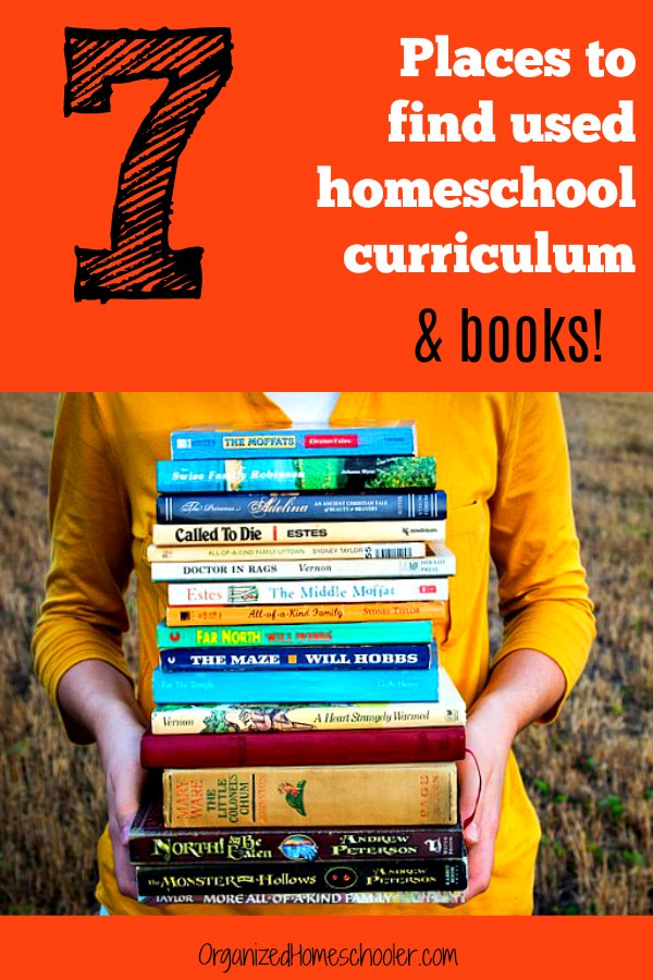 Used homeschool curriculum and books are a great way for homeschool families to save money. Check out these 7 places to find used homeschool curriculum.