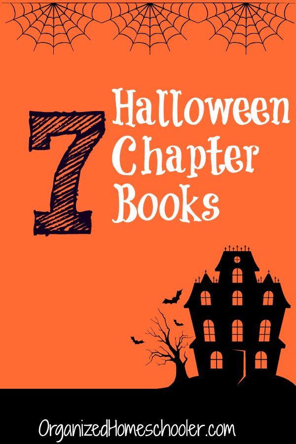 These Halloween chapter books are the next step for kids who have passed the picture book stage. A few of these books will work for older elementary students and others are perfect for teens and adults who love a spooky story. #organizedhomeschooler #halloween #spookybook