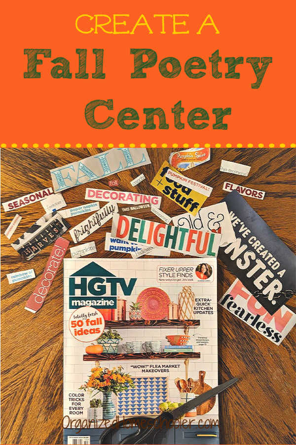 One of a the easiest fall poetry activities is to create a fall poetry center. Inspire students to write poetry.