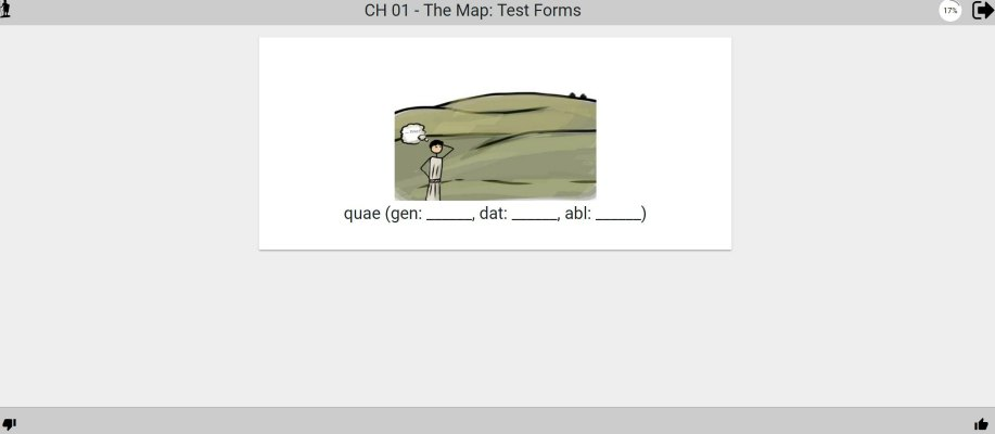 screen shot of picta dicta test on vocabulary forms