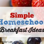 Simple Homeschool Breakfast Ideas