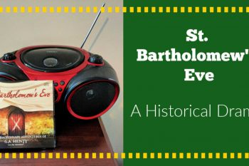 2 cd set of St. Bartholomew's Eve sitting next to a cd player