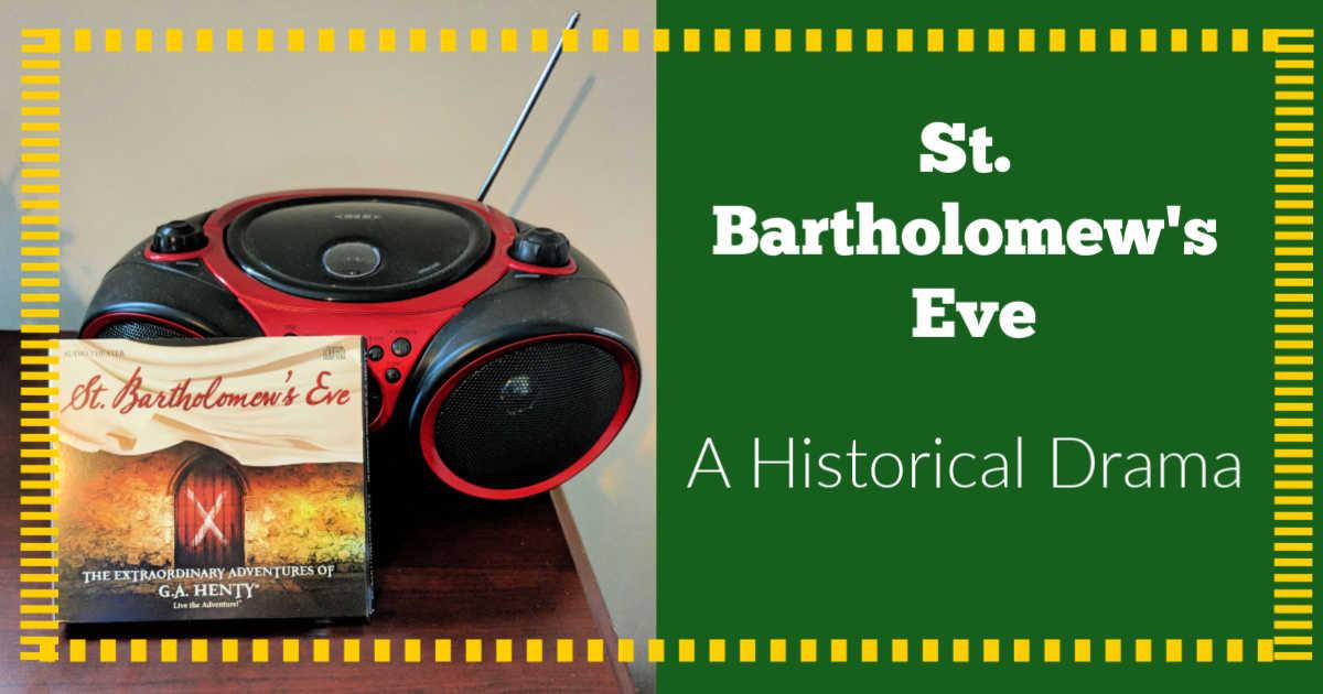 2 cd set of St. Bartholomew's Eve sitting next to a cd player