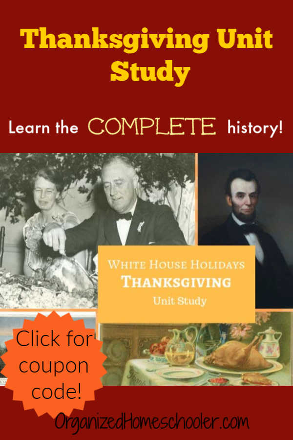 This Silverdale Thanksgiving Unit Study tells the complete Thanksgiving history. It contains lesson plans for kindergarten through high school. I love that it includes primary source documents that enrich my homeschool Thanksgiving lesson plans!