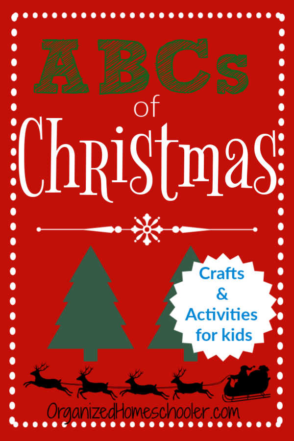 These ABCs of Christmas include a Christmas craft or activity for every letter of the alphabet. They make a great addition to an Advent calendar or holiday lesson plans.