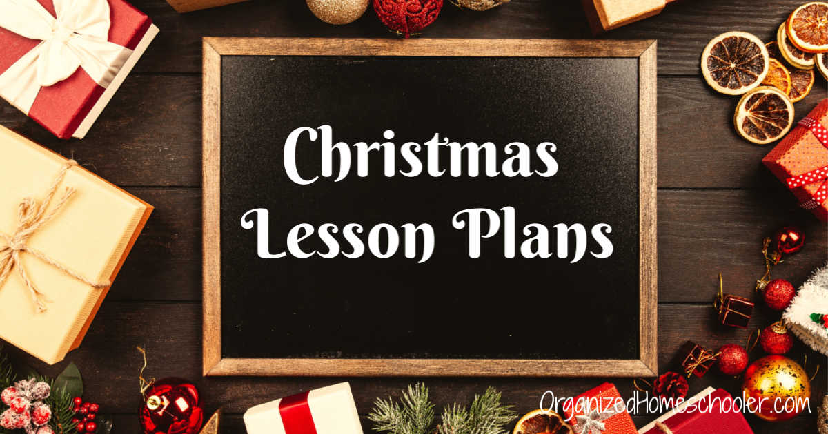 Christmas Lesson Plans written on a chalkboard