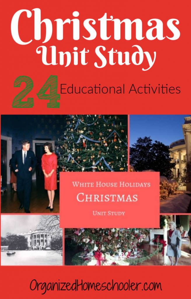 This Christmas unit study is perfect for homeschool families who want educational advent learning activities. Teachers love it because the lesson plans are ready to use. Students love it because the activities are fun. It includes activities for kindergarten - high school. Learn all about the White House Christmas traditions!