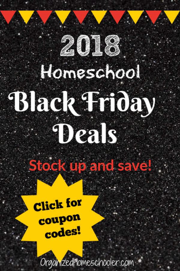 Check out these homeschool Black Friday deals! Find all the best deals on homeschool curricula and products to save parents time. CLICK to see coupon codes!