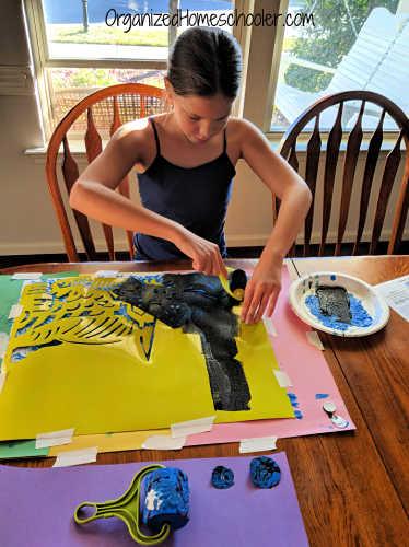 Painting the van Gogh art kit for kids