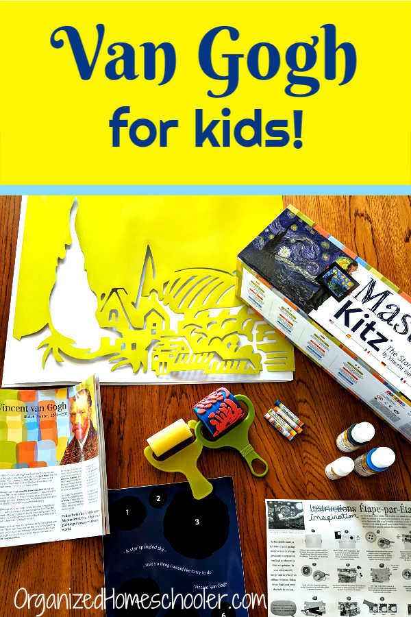 Master Kitz provides complete art project kits for kids that teach famous artists. This Van Gogh Starry Night is a fantastic kids art project.