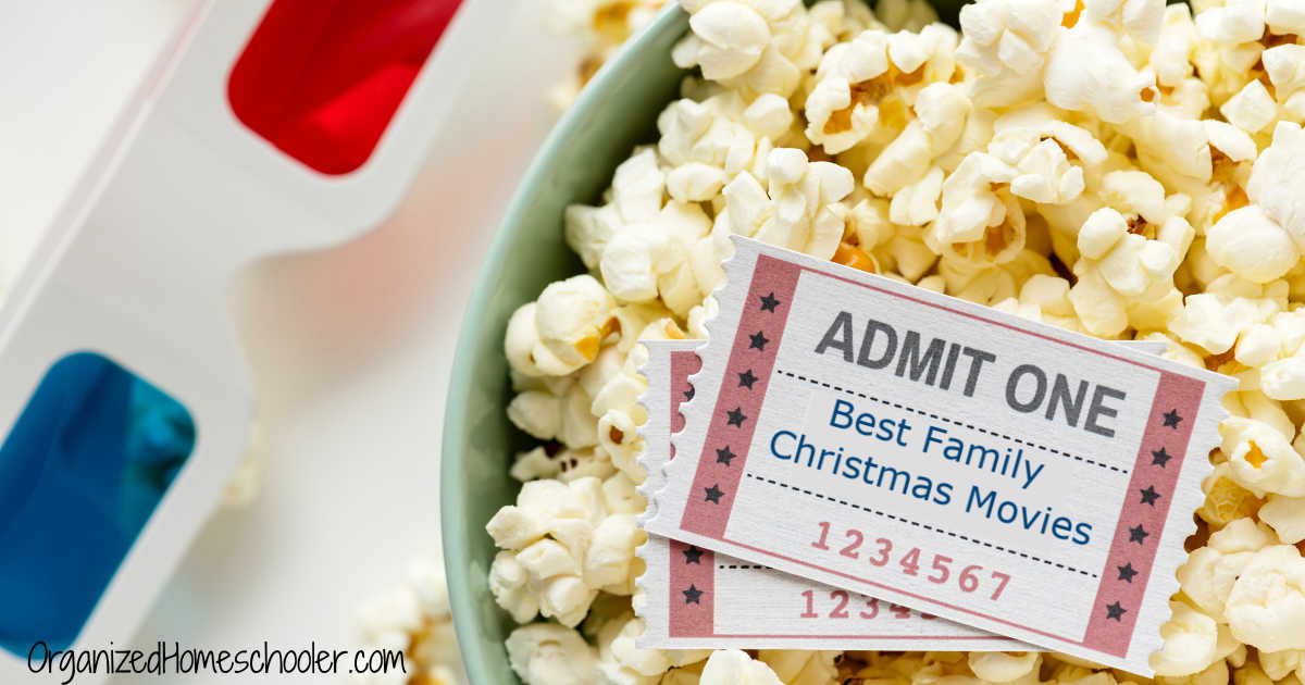 Best family Christmas movies written on a movie ticket