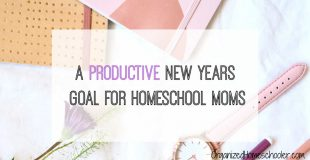 A Productive New Years Goal for Homeschool Moms