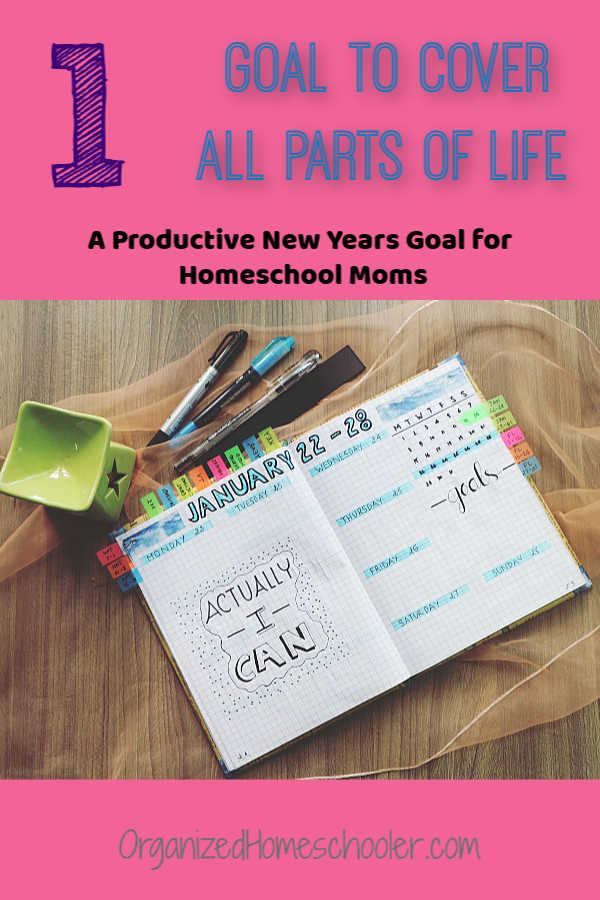 One carefully chosen New Years goal for homeschool moms can make a HUGE impact. Click to see which New Years resolution can help homeschool moms squeeze in more time for everything.