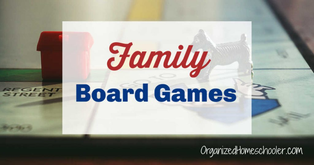 Family board games written on top of a Monopoly board