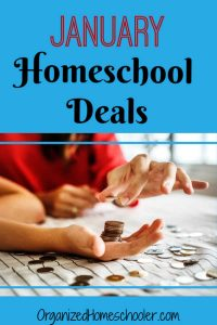 These January homeschool deals will save you money on homeschool curriculum as you get your homeschool ready for 2019. January is a great time of year for a homeschool reset and these homeschool sales help.