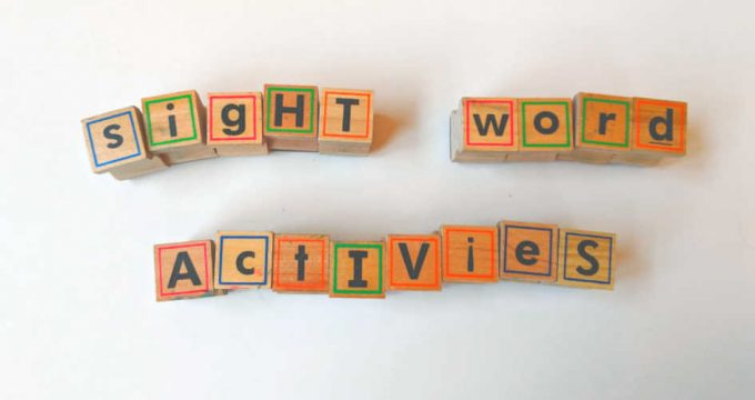 7 Quick and Easy Sight Word Activities