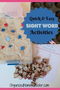 These hands on sight word activities are effective and fun. They can be done at home with pre k, kindergarten, first grade, and even second grade. These affordable educational activities make practicing sight words fun!