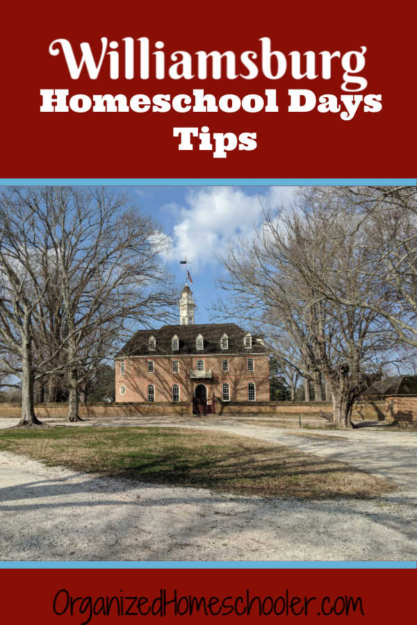 These tips will help you make the most of Williamsburg Homeschool Days. This is a fantastic field trip opportunity in Virginia.