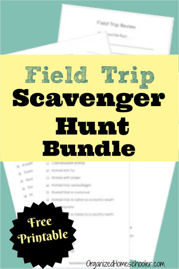 Print your free copy of this field trip scavenger hunt bundle! Help kids stay focused on field trips with a printable zoo, historical site, aquarium, and art museum scavenger hunt. There is also two free field trip review pages for after the field trip.
