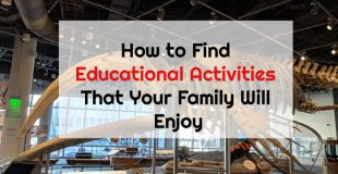 How to find educational activities that your family will enjoy written overlayed on whale skeleton