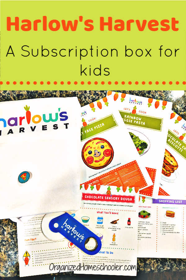 Teach kids to cook with Harlow's Harvest! Each kids subscription box includes kid-friendly recipes, kitchen science experiments, and other fun activities.