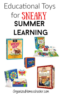These educational toys for summer are a fun and easy way to prevent summer slide. These educational summer activities for kids don't feel educational - they just feel like a fun way to spend a summer afternoon.