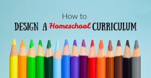 design a homeschool curriculum written above colored pencils