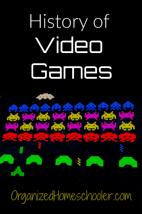 This history of video games unit study teaches kids the evolution of their favorite games. It can be used as a homeschool unit study or history curriculum.