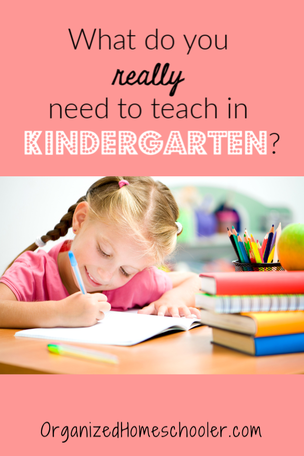 What do you really need to know to homeschool kindergarten? See a list of all the kindergarten skills that are recommended for kindergarten.