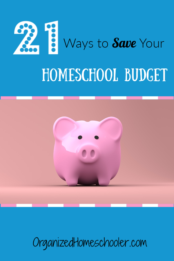 Homeschooling doesn't have to be expensive! Check out these 21 tips for saving money in your homeschool budget.