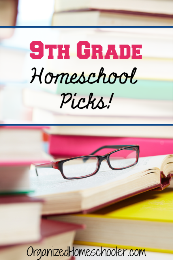 Check out our top 9th grade homeschool curriculum picks! These homeschool curriculum options cover languge arts, math, science, history, foreign language, and electives. My student helped pick out each option.