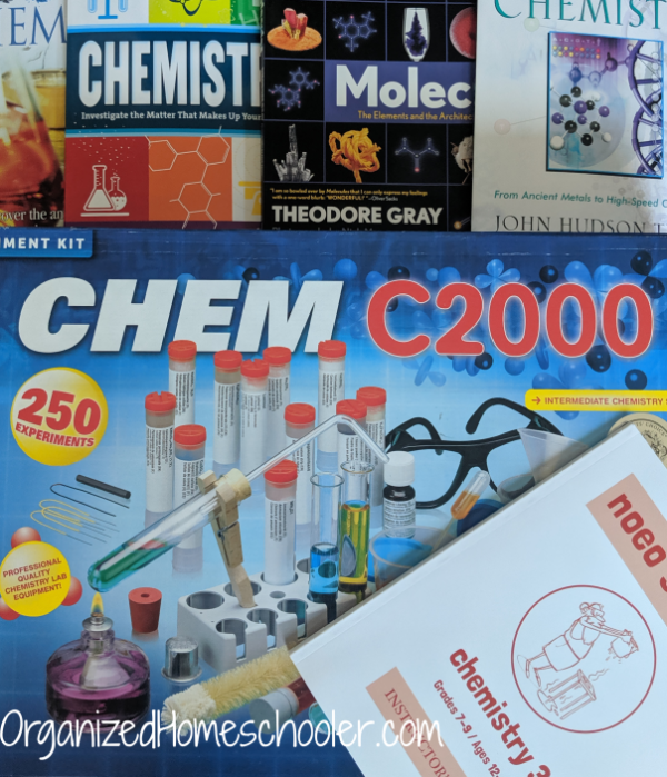 Middle school chemistry books with chemistry kit