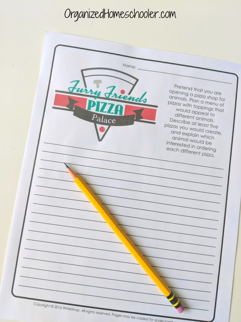 Pizza Day creative writing freebie