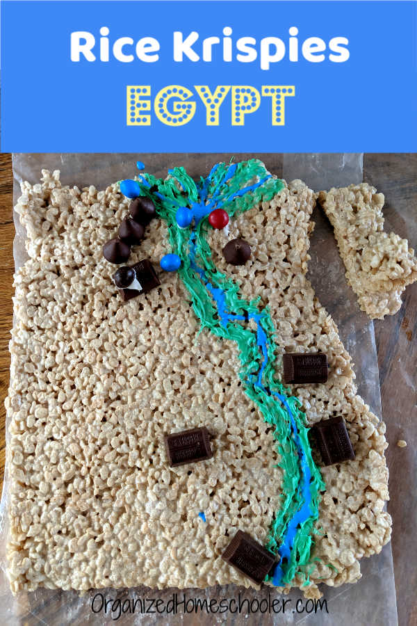 A Rice Krispies map of Egypt is a great Ancient Egypt project for kids. This hands-on activity is a fun and yummy way to learn geography and history.