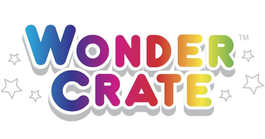 Wonder Crate written in rainbow colored letters