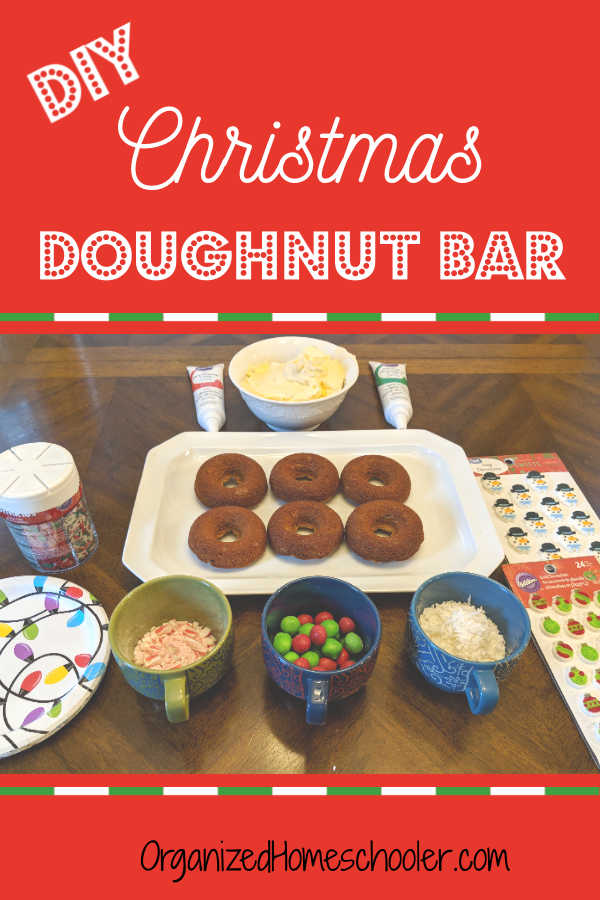 Make a Christmas doughnut bar part of your Christmas holiday traditions! This DIY donut station is easy to set up and is a real crowd pleaser.