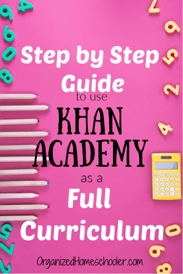 Get a step by step guide on how to use Khan Academy as a full math curriculum in your homeschool. This free online option can be a great math teacher!