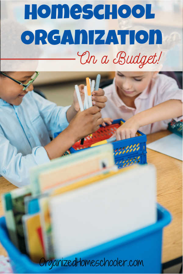It is possible to achieve homeschool organization on a budget! Check out these organization and storage tips for your homeschool.