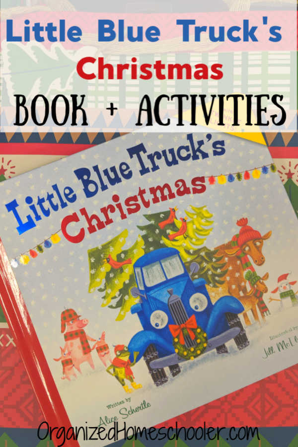 These simple hands-on educational activities pair perfectly with Little Blue Truck's Christmas book. These are fantastic Christmas activities for toddlers and preschoolers. #Christmas #preschool