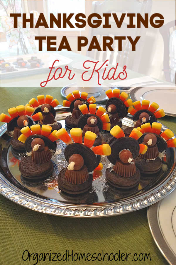 This Thanksgiving tea party for kids a great way to include poetry. This is a favorite homeschool activity, but really anyone can do it! #Thanksgiving #teaparty #poetryteatime