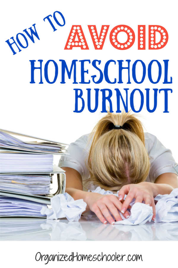 Homeschool mom burnout is real! Take these simple steps to avoid burnout and exhaustion. #homeschool #homeschoolmom #organizedhomeschooler